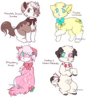 dessert-themed adopts - CLOSED by candybeaches