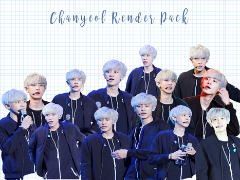 Pack PNG #85 Chanyeol (EXO Concert) by XieraaaPark