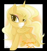 Chibi Commission-  Summer Sun by Leafy44