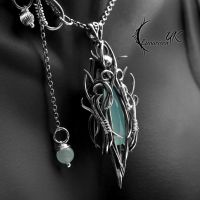 ASNEGRION - silver, blue chalcedony by LUNARIEEN