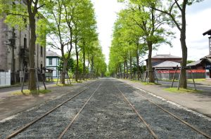 Main street with tracklines by Furuhashi335