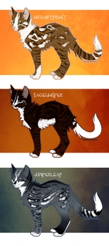 Warrior Cat Designs by RussianBlues