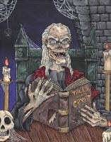 Tales From The Crypt Acrylic Painting by emmadreamstar