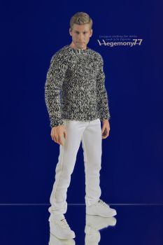 Sixth scale hand knit sweater and jeans pants by Hegemony77