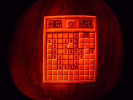 Minesweeper Pumpkin by ceemdee