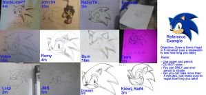 Collective --Draw a Sonic Head-- Challange by pauinhopc