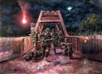 Pegasus Bridge, D-Day 1944 (SOLD) by LordCraigus