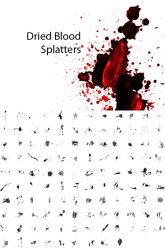 Dried Blood Splatters by pstutorialsws