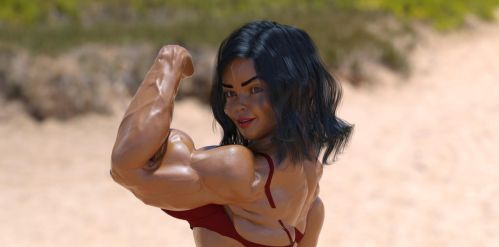 Girl bodybuilder 3 by TheRedCrown