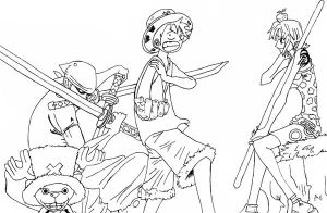 One piece crew sketch by l3xxybaby