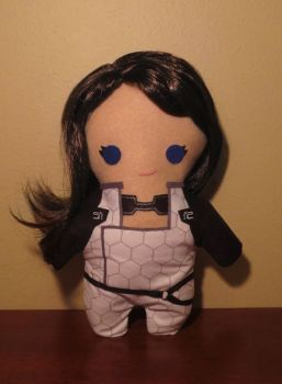 mass effect miranda lawson plush, chibi style! by viciouspretty