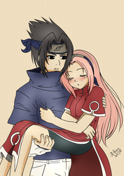 Sasuke and Sakura by McAnime-Art