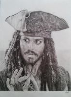 Capitain Jack Sparrow by Patreniere
