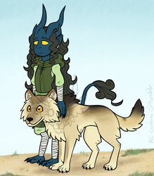 .:The Druid and the Wolf:. by Knuxtiger4