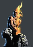 Jae Lee's Human Torch by bickbong