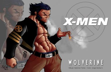 wolverine color by salo-art