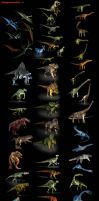 3D-CG  54 Dinosaur collection by RyanZ720