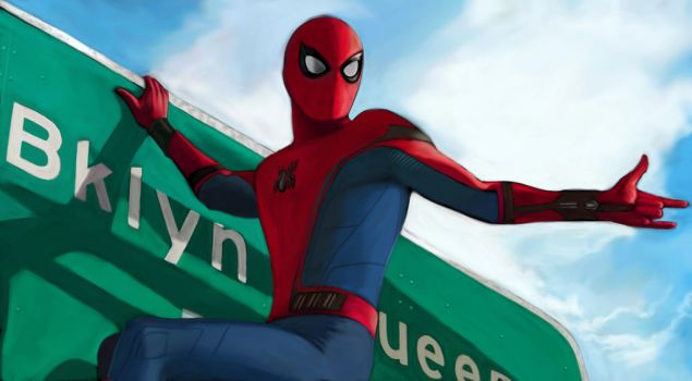 Spider Man - Homecoming (On Sign) by SoulStryder210