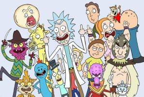 Rick and Morty by cowtoon