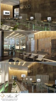 Bank Interior concept by kasrawy