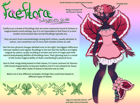 Faeflora Subspecies Guide by Prismativity