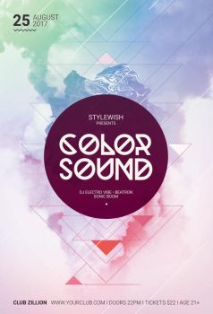 Color Sound Flyer by styleWish