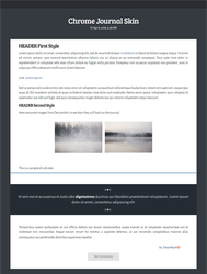 Chrome ~ Free Journal Skin by ClearStyle