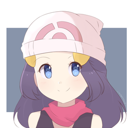 Pokemon - Dawn Simple Style by chocomiru02