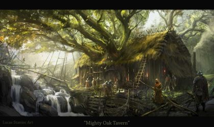 Mighty Oak Tavern by AlcoholicHamster