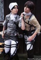 Time to clean Eren - Levi x Eren Cosplay by K-I-M-I