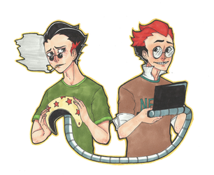 Art Trade - Gary and Samse by SpookyChester