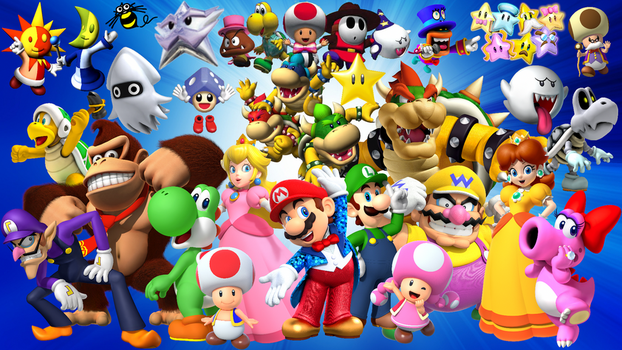 Hudson Heroes - Mario Party Wallpaper by MidniteAndBeyond