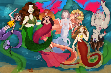 Mermay collab in the server by All-The-Fish-Here