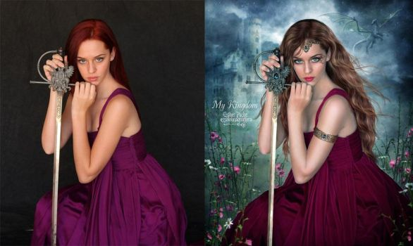 My Kingdom - Before and After by EstherPuche-Art