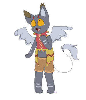 Winged cat thing adopt [OTA - CLOSED] by Eevee33