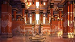 The Palace Throne Room by LordGood