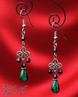 Absinthe Filigree Earrings by ArtOfAdornment