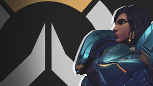 Overwatch Side Profile Wallpaper - Pharah by PT-Desu