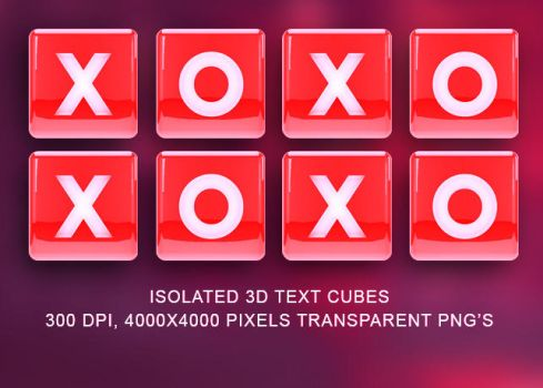 Isolated 3D Text Cubes by loswl