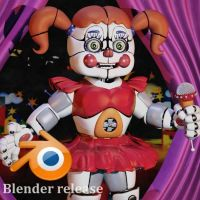 Circus Baby V7 Blender download. by Fazersion