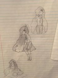 First sketches of Allin by AvacadoGalaxy