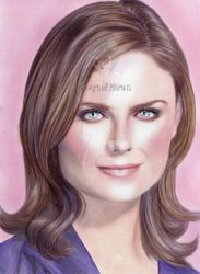 Emily Bones Deschanel Portrait by xMarieDx