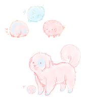 Cotton Candy Doggies by MissPomp