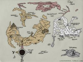My Spin on the RWBY Map by laserswords