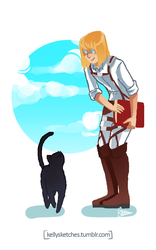 Armin And Cat by SketchCircus