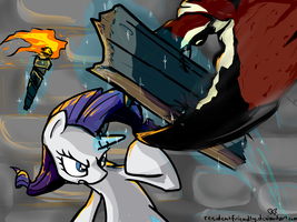 Rarity VS Giant Crab by Residentfriendly