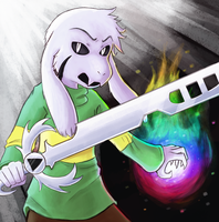 Glitchtale Asriel by astral-embers
