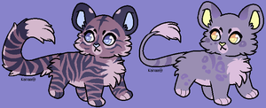 Tiger and Lion Adopts CLOSED by AnamayCat