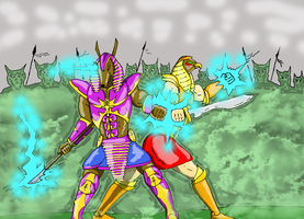 Anubis and Horus Duo by GalaxyZento