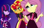 MLP The New Dazzlings So What Who Cares (WBG) by SpeedPaintJayvee12